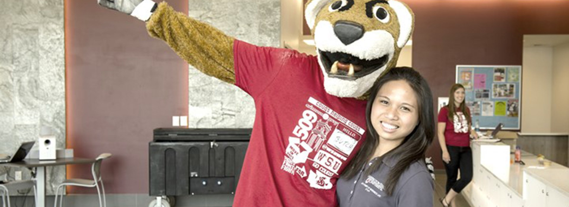Butch Cougar with Student