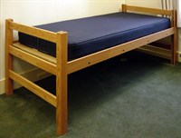 Lofted bed in medium position